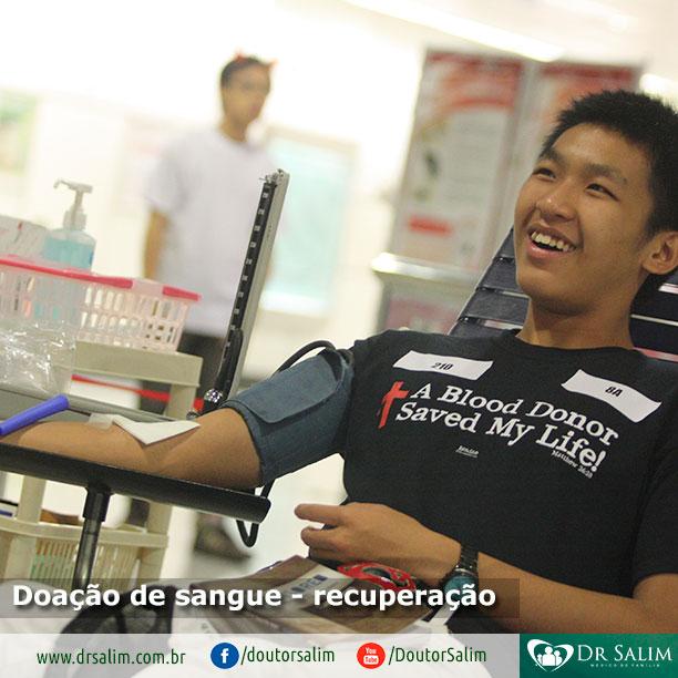 Como é a recuperação após a doação de sangue?
