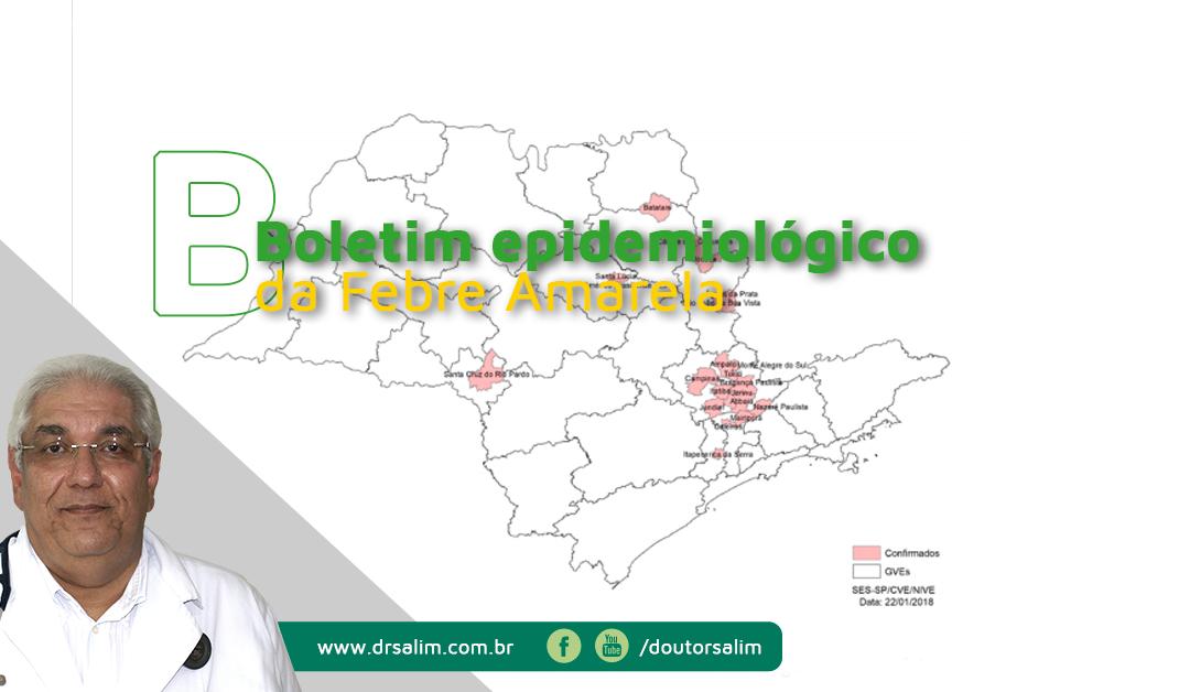 Boletim epidemiológico Febre amarela em São Paulo