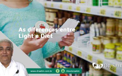As diferenças entre Light e Diet