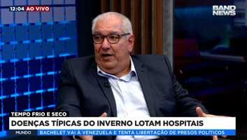 Doenças típicas no inverno lotam hospitais | Dr. Salim Entrevista Band News