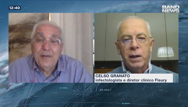 A imagem mostra o Dr. Salim e o infectologista Celso Granato.