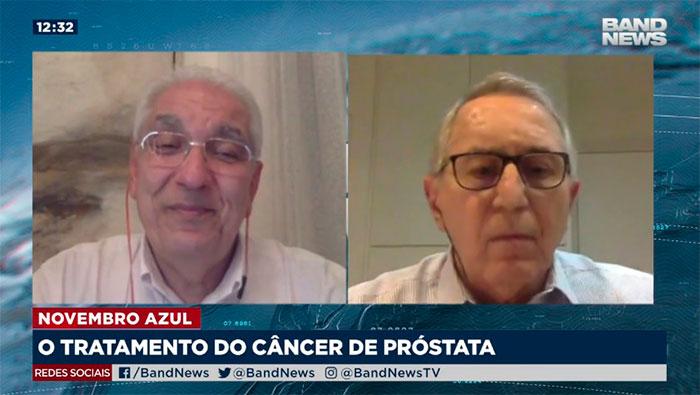 A imagem mostra uma tela dividida em dois lados, do lado esquerdo está o Dr Salim, e do lado direito o Dr. Anuar Mitre.