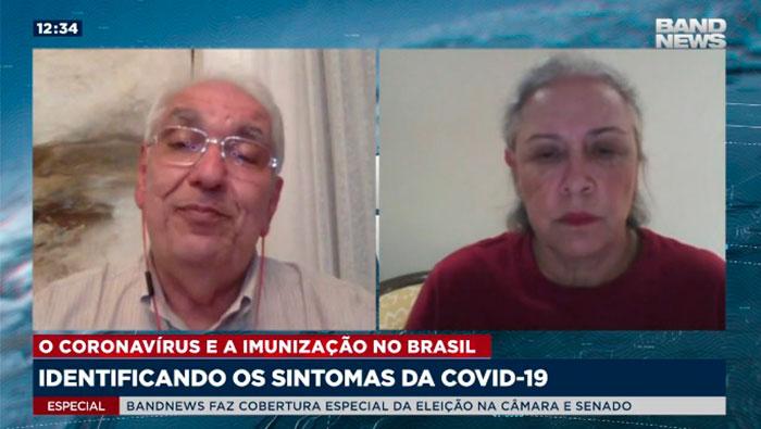 A imagem mostra uma tela dividida em duas partes. Na direita, há a Dra. Maria Beatriz Souza Dias, e na esquerda há o Dr. Salim.