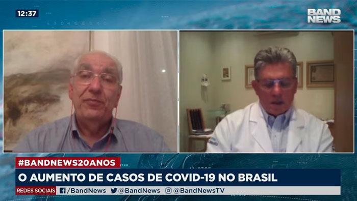 A imagem mostra uma tela dividida em duas partes. No lado direito, encontra-se o Dr. Antônio Carlos Nicodemo, e do lado esquerdo, o Dr. Salim.